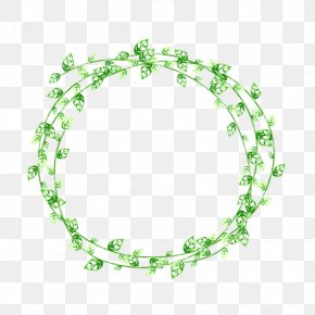 Green Garland - Green Leaf Picture Frame PNG