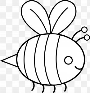 Bumble Bee Outline - Bumblebee Black And White Clip Art PNG