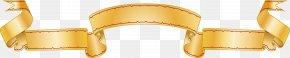 Gold Ribbon Vector Design - Ribbon Computer File PNG