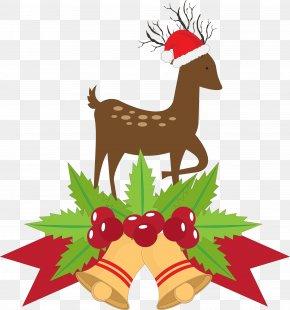 Elk,Fawn,Christmas,Bell - Santa Claus Deer Paper Christmas PNG