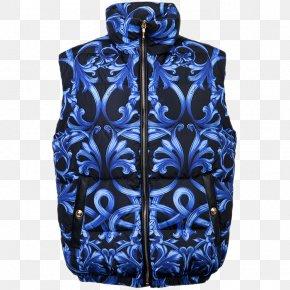 Collar Zipper Floral Print Velvet Vest - Vest Waistcoat Versace Zipper PNG