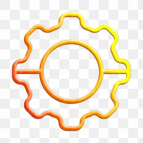 Yellow Computer Software - Setting Icon PNG