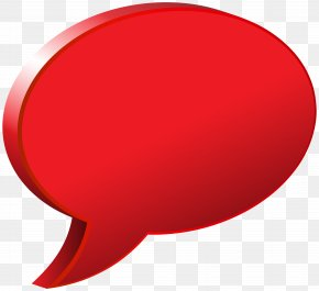 Speech Bubble Red Transparent Image - Red Font Design Product PNG