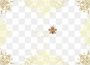 Vector Gold Pattern Frame - Textile Yellow Area Pattern PNG