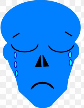 Blue Sadness - Nose Clip Art Organism Human Behavior Cheek PNG