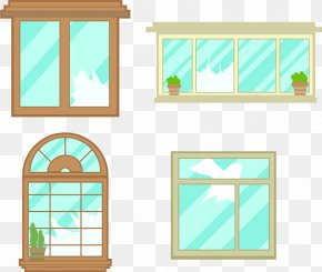 Windows Crack At Home - Window Glass Euclidean Vector PNG