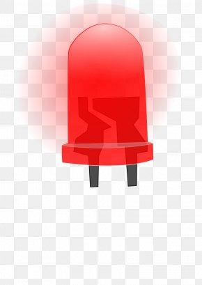 Red Light - Light-emitting Diode LED Lamp Incandescent Light Bulb Clip Art PNG
