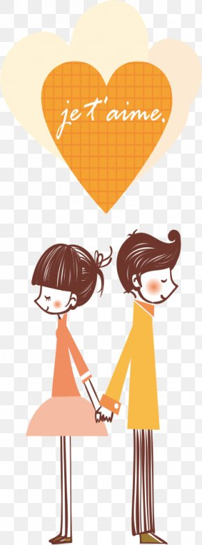 Couple In Love - Couple Falling In Love Clip Art PNG