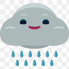 A Rain Cloud - Rain Icon PNG