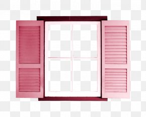 Pink Windows - Window Treatment Clip Art PNG