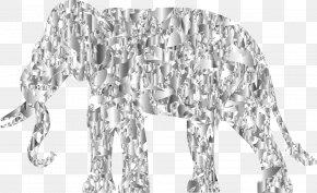 Modern Art - Line Art Elephant PNG