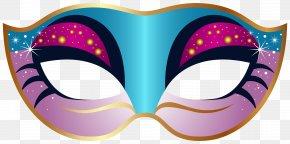 Blue And Pink Carnival Mask Clip Art Image - Mask Carnival Mardi Gras Masquerade Ball Clip Art PNG