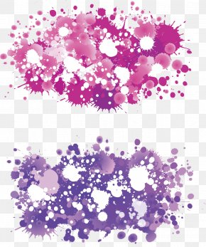 Pink Background Painting Brushes - Floral Design Painting Paintbrush PNG