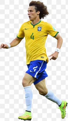 Football - David Luiz 2018 World Cup Brazil National Football Team Jersey FIFA World Cup 2018 Live PNG