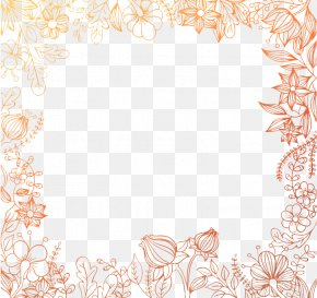 Painted Floral Border Background Vector Material - Placemat Area Pattern PNG