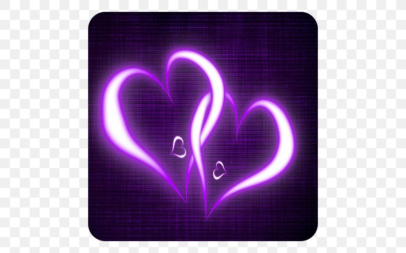 Purple Heart Desktop Wallpaper Home Screen Android Png