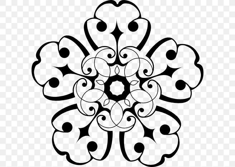 Flower Black And White Clip Art, PNG, 600x581px, Flower, Art, Black, Black And White, Color Download Free