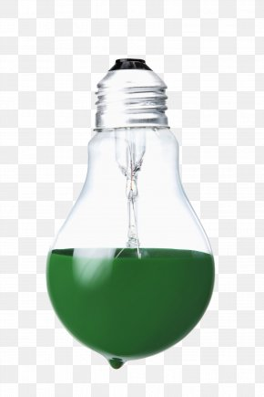 The Green Liquid In The Bulb - Green Liquid PNG