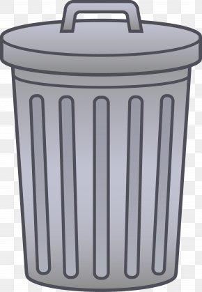 Trash Border Cliparts - Waste Container Bin Bag Clip Art PNG