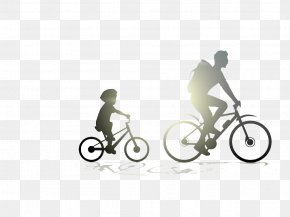 Cycling Father And Son - Father's Day Gift Mother's Day Love PNG