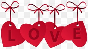 Hearts With Love Decoration Clip Art Image - Love Heart Clip Art PNG