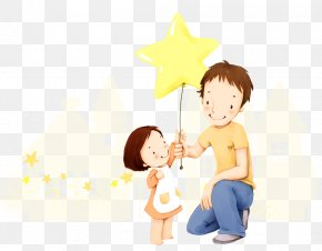 Father's Day - South Korea Illustrator Cartoon Illustration PNG