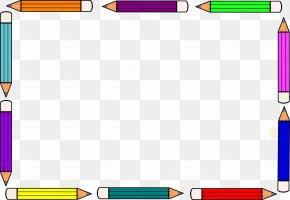 Pencil Frame Cliparts - Paper Colored Pencil Clip Art PNG