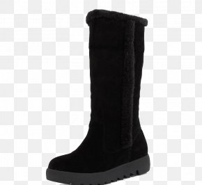 Black Snow Boots - Snow Boot Suede Shoe PNG