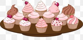 Pink Cupcake - Cupcake Muffin Frosting & Icing Clip Art PNG