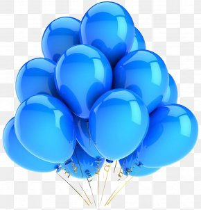 Balloon - Amazon.com Balloon Blue Party Birthday PNG