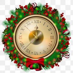 Christmas - Christmas Clock New Year Clip Art PNG