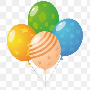 Balloons - Orange Party Supply Balloon PNG
