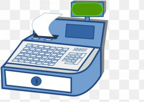 Cash Register Clipart - Clip Art Cash Register Cashier Openclipart Image PNG
