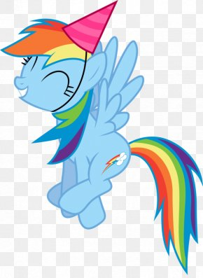 Picture Of Party Hat - Rainbow Dash Rarity Party Hat Birthday Clip Art PNG