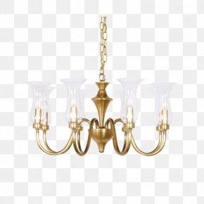 All Copper Brass Chandelier - Chandelier Brass Copper Lamp PNG