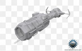 Ship - Low Poly Mother Ship Spacecraft Space Station PNG