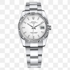 Silver Rolex Watches Female Form - Rolex Datejust Watch Jewellery Diamond PNG