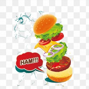Burger - Hamburger Cheeseburger McDonald's Big Mac Fast Food Veggie Burger PNG