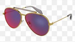 Mcqueen - Aviator Sunglasses Designer Fashion PNG