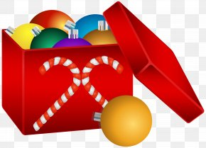 Christmas Balls In Box Transparent Clip Art Image - Christmas Ornament Santa Claus Christmas Decoration Clip Art PNG