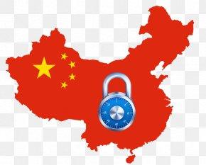 Safe China - Flag Of China Map National Flag PNG