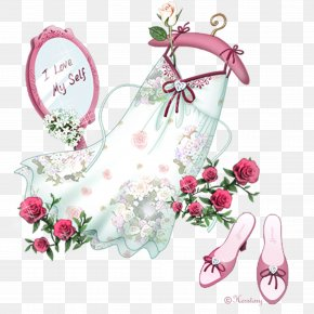 Skirts Mirror Rose - Taobao Clothes Hanger PNG