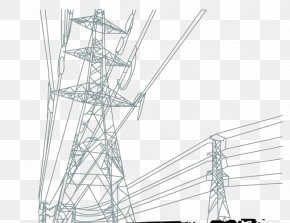 High Voltage Tower - High Voltage High-voltage Cable Electric Power Transmission PNG