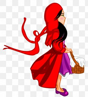 Red Riding Hood Clipart - Big Bad Wolf Little Red Riding Hood Clip Art PNG