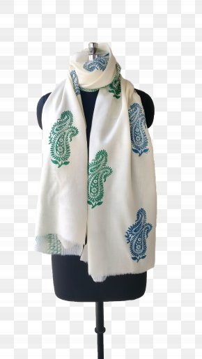 Scarf Stole Turquoise PNG