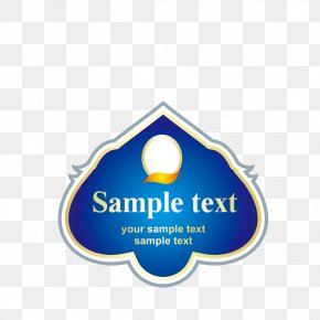 Blue Stickers Material Wine - Sticker PNG