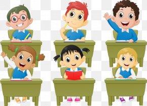 Vector School Children - Student Classroom Lesson Cartoon PNG