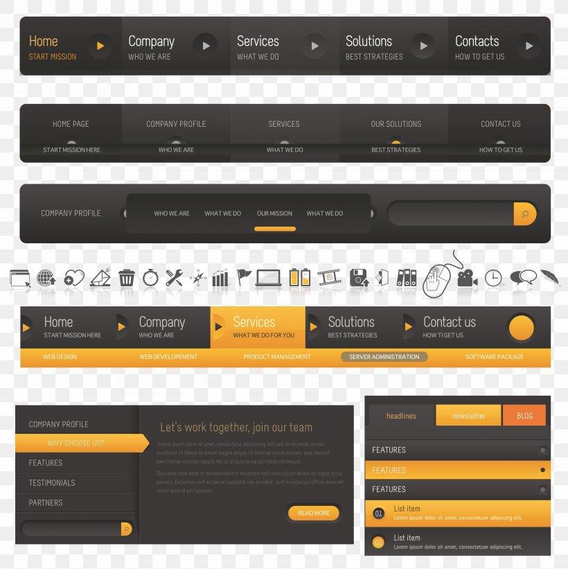 Web Navigation Web Design Website Png 7424x7436px Web Navigation Brand Menu Multimedia Navigation Bar Download Free