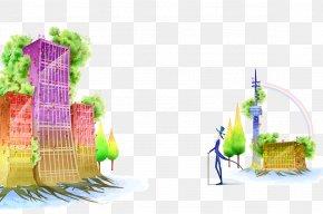 Building - Building Cartoon Illustration PNG