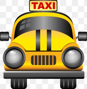 Hand-painted Abstract Pattern Of Yellow Taxi - Taxi Travel Icon Design Icon PNG